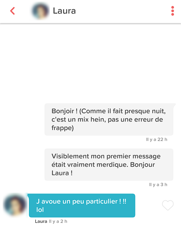 Crire un premier message sur Meetic